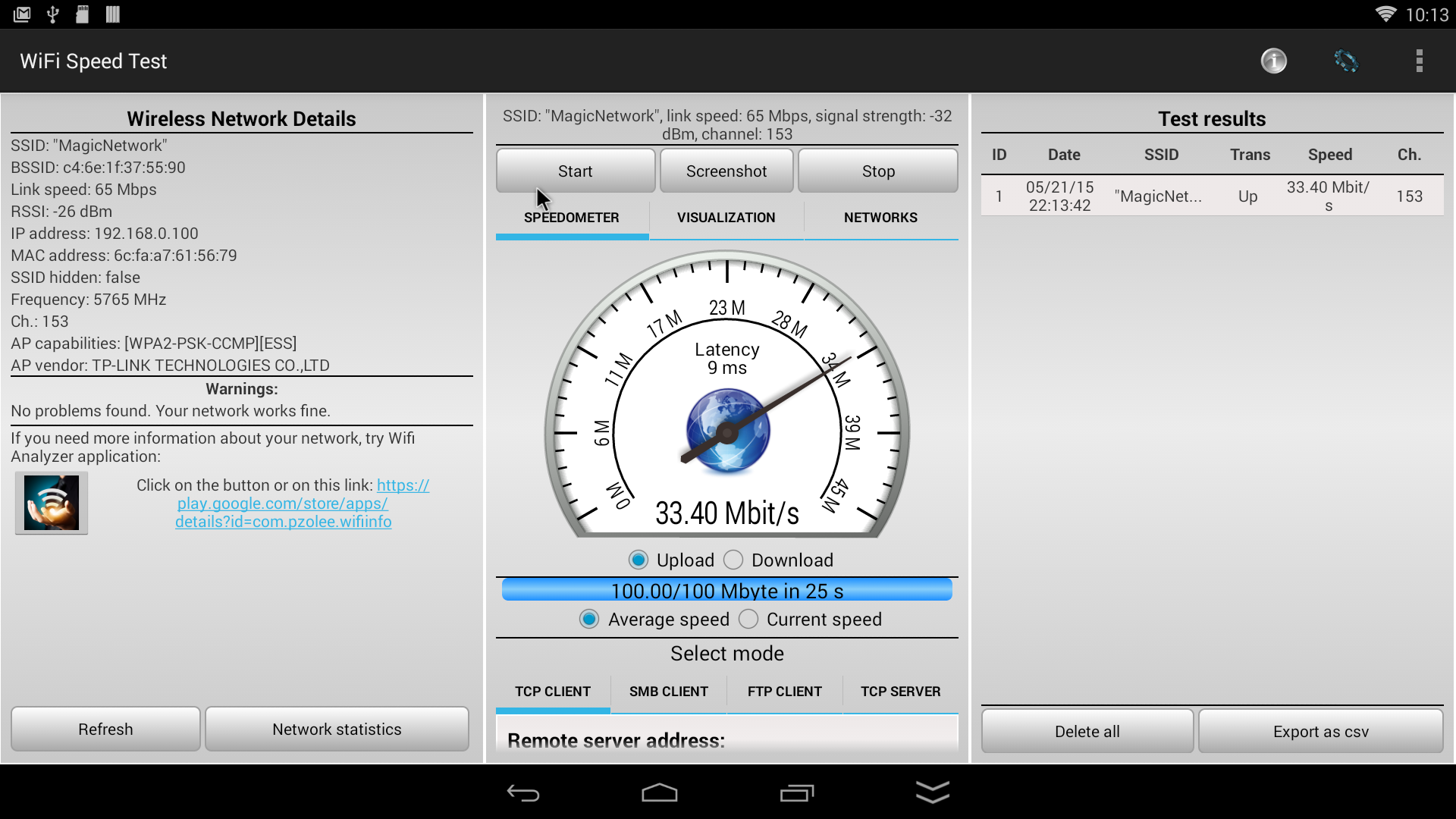 Speed Home Wifi Test